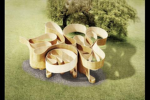 Serpentine Summer House 2016 - render designed by Barkow Leibinger
